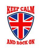 Keep Calm Rock On British Flag poster