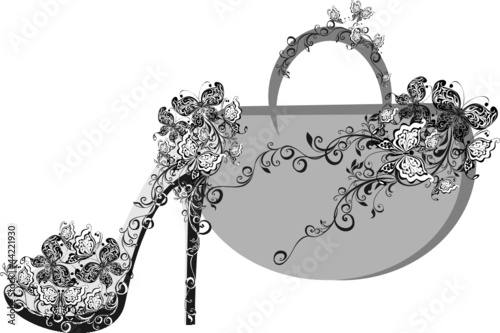 Beautiful female shoes and bags