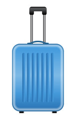Vector illustration of blue suitcase