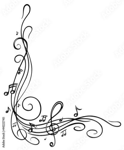 Fototapete noten notenschl ssel musiknoten musik rahmen - Note musicali da colorare pagina da colorare ...