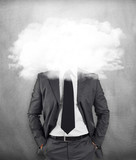 Businessman - head in the clouds