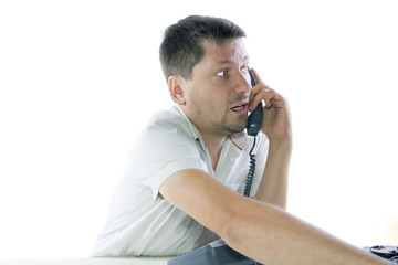 Businessman speaking on the phone