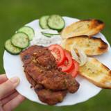 karkówka szaszłyk kiełbasa szynka grill piknik ognisko
