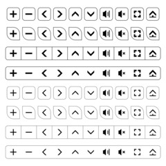 vector navigation buttons black icons
