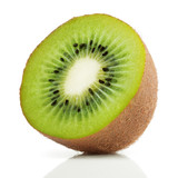 Fototapety Half of juicy kiwi fruit on white