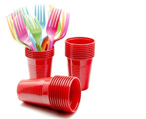 Vasos y tenedores