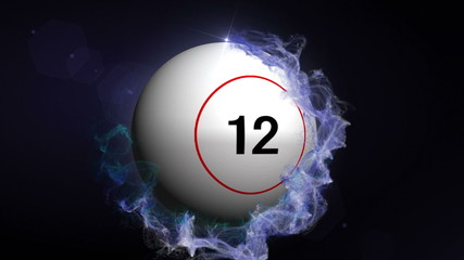 Bingo Ball in Particle Ring Blue - HD1080