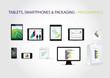 Tablets, smartphones & packaging - infographics