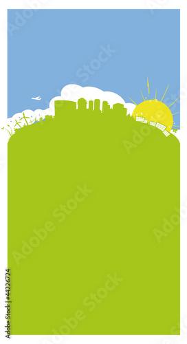 Flyer vierge paysage vertical vert illustration
