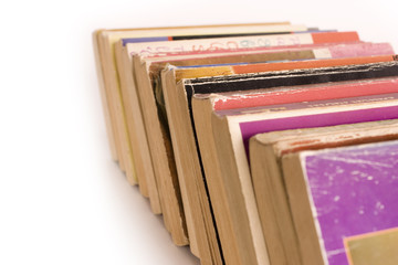 Row of Old Paperback Book