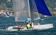 strambata con catamarano