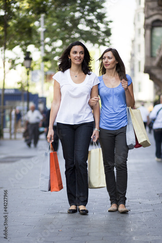 Two women shopping