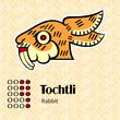 Aztec calendar symbols - Tochtli or rabbit (8)