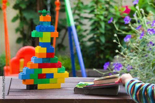 Children toys in garden
