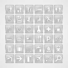 Travel aluminum icons