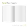 Vector blank magazine spread on white background. Using mesh