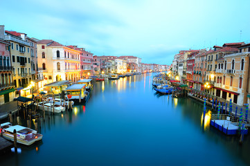 Grand Canal in Venice - view from Rialto Brdge
