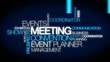 Events meeting convention event planner word tag cloud video