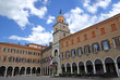 Italy, Modena Piazza Grande and the city hall