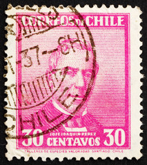 Postage stamp Chile 1934 Jose Joaquin Perez Mascayano, President
