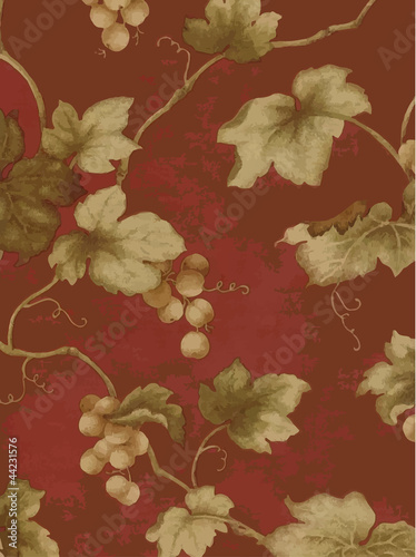 Stylish vector grapes background - rusty and distressed