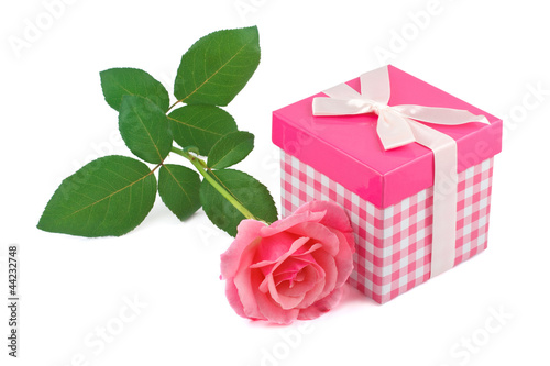 Gift and a rose