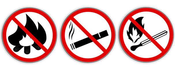 kein Feuer- Sticker