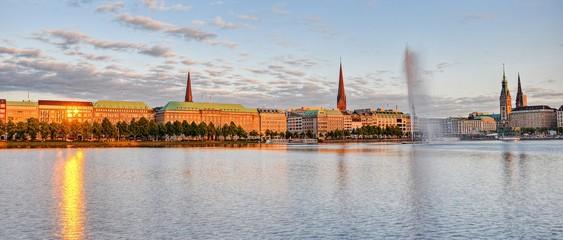 Binnenalster in Hamburg Panorama