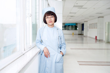 Nurses work in hospitals