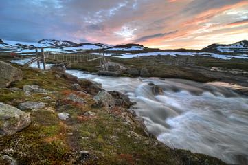 Sommerbrücke in der Hardangervidda