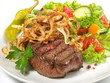 Steak mit Salat