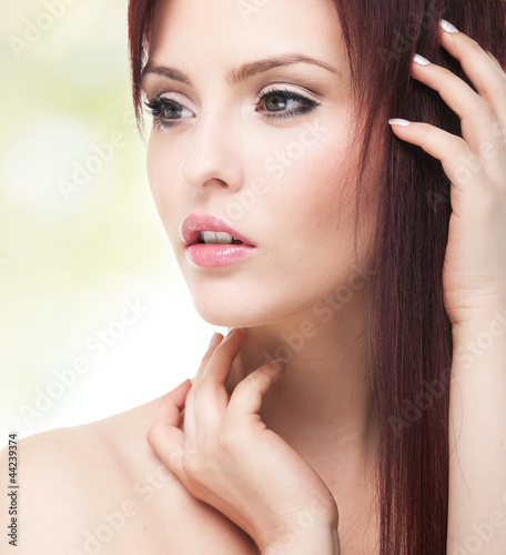 Portrait of a sensual young adult woman