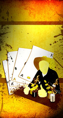 Western poker background