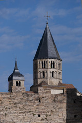 towers of the abbey of cluny