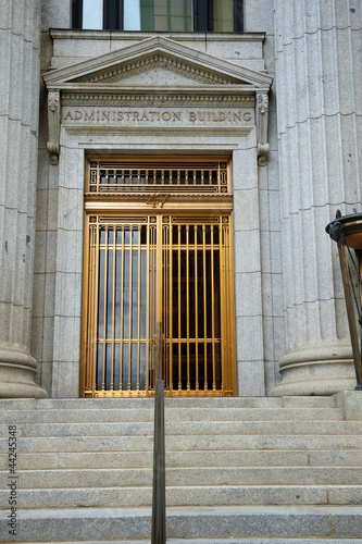 Mormon Neoclassical Building Entrance