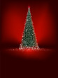 Christmas tree on light. EPS 8