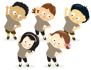 Kids exercising 2
