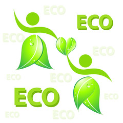 Eco friendly concept  Vector illustration