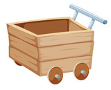 Wood trolley illustration