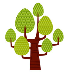 Illustration tree on the white background