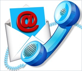 Digital communication via telephone and email