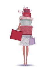 Shopping girl with shopping bags