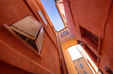 Saint Tropez narrow street
