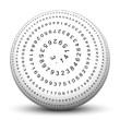 Kugel, 3D, Pi, Kreiszahl, Mathematik, Geometrie, rund, Spirale