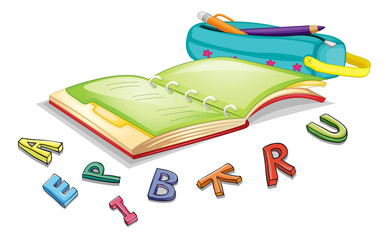 alphabets and book