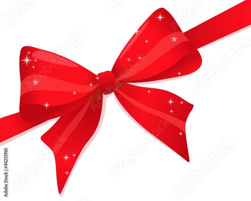 Noel noeud rouge