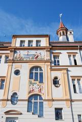 Bamberg Stadtarchiv mit Badewannen Fassade