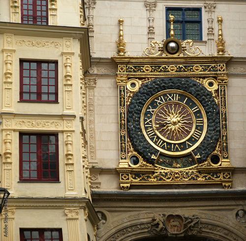 Clock in the Rue du Gros-Horloge, Rouen