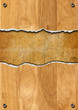 Cracked Wooden Background