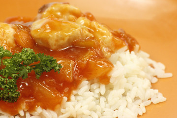 poulet sauce aigre-douce